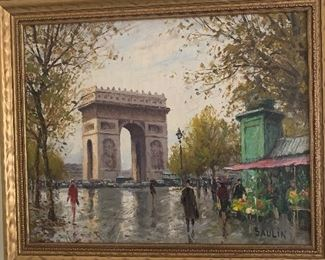 Signed oil by Saulin
