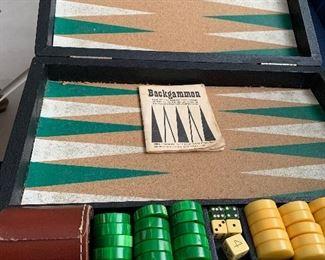 Bakelite Backgammon set game