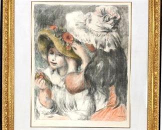 Pierre August Renoir Le Chapeau Epingle