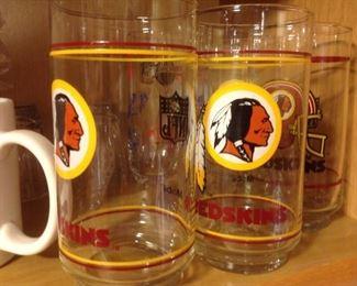 NFL Glassware Redskins