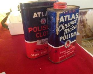 Vintage Atlas Tins $10 EA