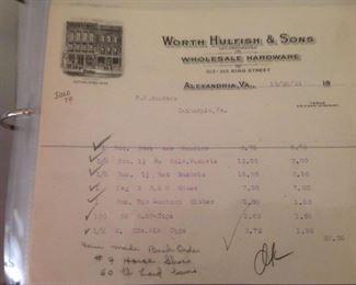 1924 Ephemera Local Receipts
