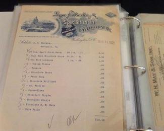 1924 Ephemera Local Receipts  WASHINGTON DC