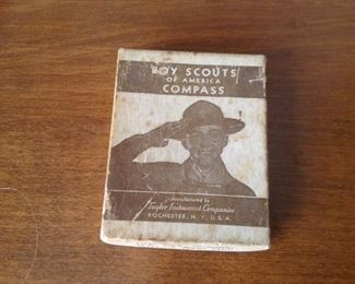 Vintage Original Boy Scout Compass NIB !