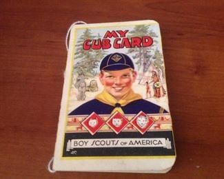 1945 Boy Scout issued Cub Card