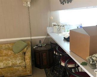 Bar stools and heshi hanging lamp