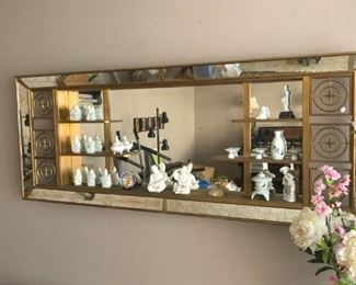 Huge Shadowbox with Porcelain collection