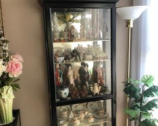 Vintage Showcase loaded with everything Asian  the 2 matching pieces on top are early Cloisonne