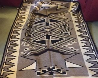 Fabulous 5' by 7' Navajo carpet in natural colored wools--