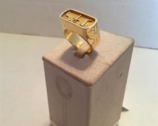 Ring - 18kt gold ring Egyptian design