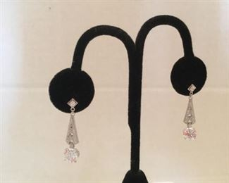 Vanna Kay 925 earrings and cz diamonds