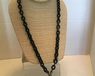 Victorian onyx chain & cross
