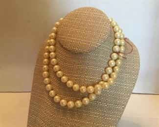 Long strand of Majorca pearls
