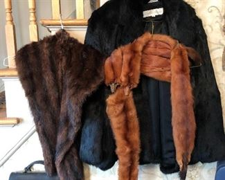 VINTAGE MINK & FOX COATS