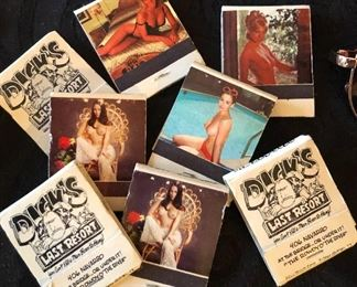 VINTAGE NUDE LADY MATCHBOOKS