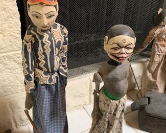 CARVED ANTIQUE PUPPETS INDONESIA