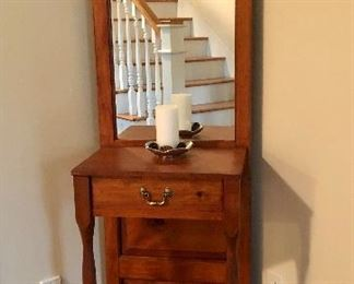 "Made  by Southern Craftsmen Guild, Mt Airy , Georgia ""Foyer Stand"""