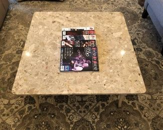 Marble top table.