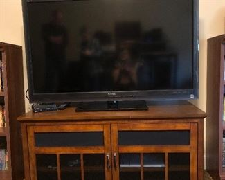 "52"" Sony TV, nice wood TV stand"