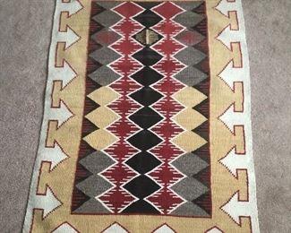 Navajo wool rug,  no documentation on this rug