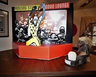 "Rolling Stone ""Voodoo Lounge"" Lighted Cardboard Promo Store Display"