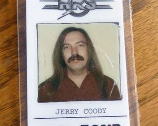 Jerry's Roadie Pass 1980