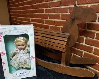 Rocking Horse & Madame Alexander Baby Doll https://ctbids.com/#!/description/share/306409