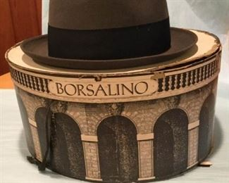 Borsalino Hat in vintage hat box https://ctbids.com/#!/description/share/307225