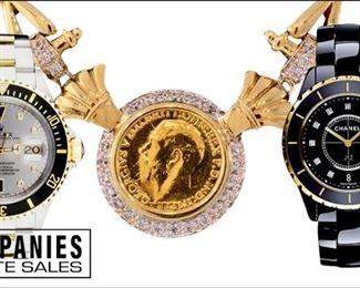Luxury Wristwatches Companies Estate Sales