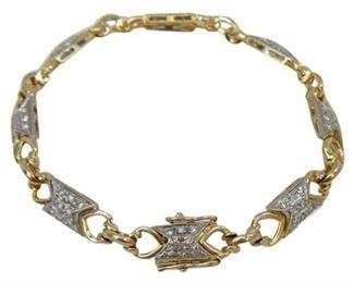 2. 14kt White Yellow Gold Diamond Bracelet