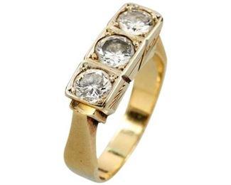 9. 1.20 cts 14K Gold Diamond Ring