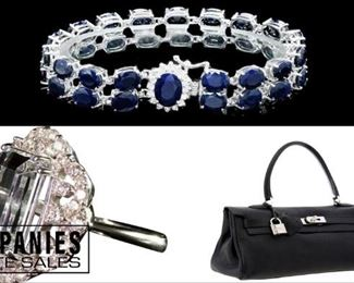Hermes, Diamond Ring, Diamond Sapphire Bracelet