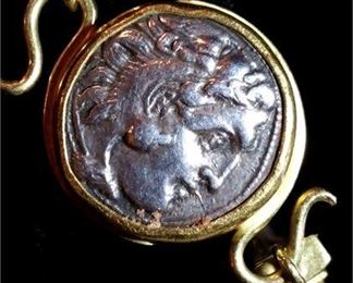 1. Ancient Greek Hellenistic Drachm Silver Coin of
