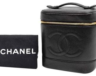 7. Chanel Black Lambskin Vanity Bag