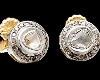 8. 1 CTW Diamond Stud Earrings 14K Gold