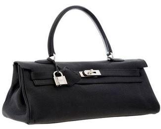 11. Hermes Black Togo Leather JPG Kelly Bag 42cm