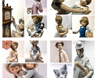 Extensive Collection of Lladro Porcelain Figurines