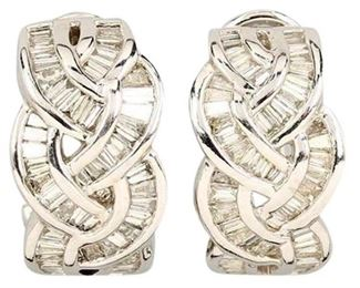 6. Pair Of 18KT Gold Earrings With Diamonds