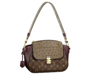 8. Louis Vuitton Majestueux Python Canvas Shoulder Bag