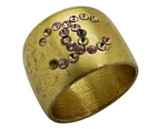 1. Chanel Vintage Ring With Pink Gemstones