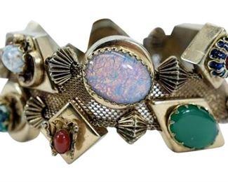 5. Silver Slider Vintage Charm Bracelet