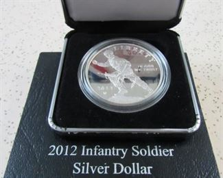 2012 W Infantry Soldier Silver Dollar