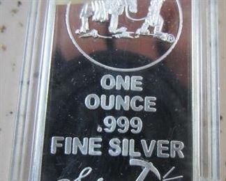 One Ounce Silver Bar