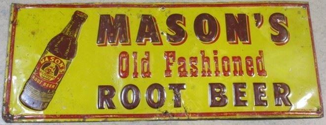 Mason's Root Beer Sign