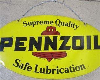 Pennzoil motor oil sign