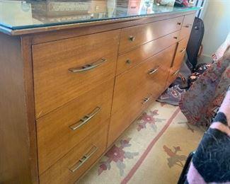 Vintage Dresser with Glass Top