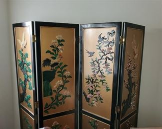 BEAUTIFUL asian stone inlay room divider