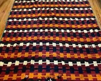 Afghan Uzbek vintage tribal kilim rug - 5'8 x 9'6 feet - $350