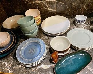 Many dishes like new & from Anthropologie