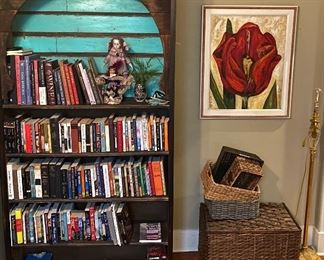 One of a kind, custom built Moorish style bookcase made with reclaimed wood - $400